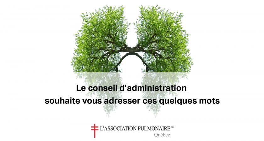 L'Association pulmonaire du Québec s'adresse à vous